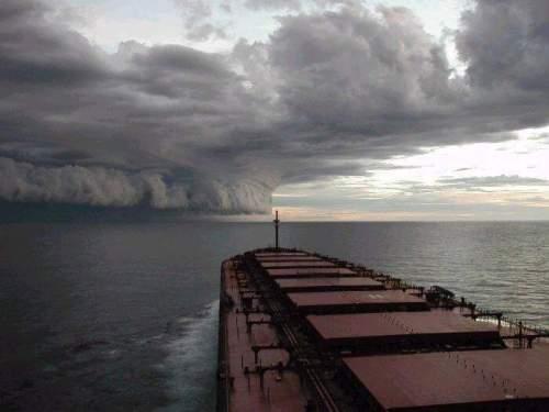 O furacão á vista