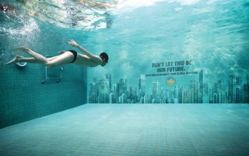 Um mundo embaixo D'agua - aquecimento global