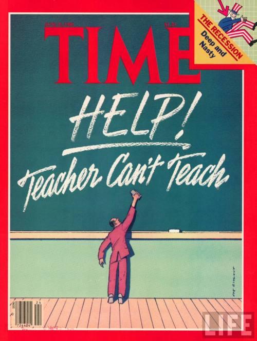 Os professores não conseguem ensinar?