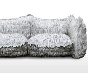 sofá de papel
