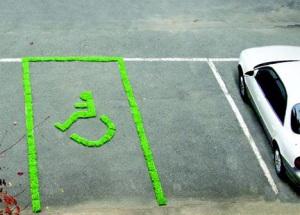 O verde no estacionamento