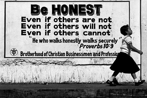 Seja honesto